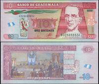 GUATEMALA BILLETE 10 QUETZALES. 19.05.2010 LUJO. Cat# P.123a