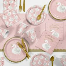 Stylish Swan Birthday Party Supplies Kit