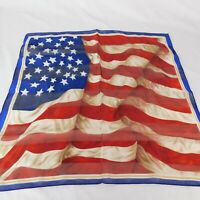 "American Flag Collection XIIX Bandana Mini Square Scarf Red White Blue 20"" x 20"""