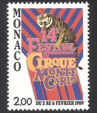 Monaco 1988 Circus Festival/Tiger/Animals/Nature/Wildlife 1v (n39083)