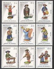 Monaco 1984 Christmas/Crib Figures/Figurines/Sheep/Angel/Drummer 9v set (n39102)