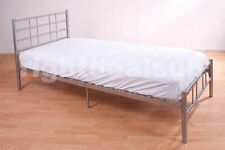 Morgan 4ft6 Double Bed - Silver Metal