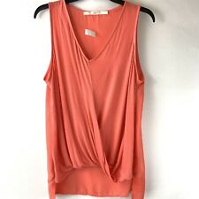 Gibson Tank Top Women's Size Large L Faux Wrap Coral Hi Low New $98 Summer