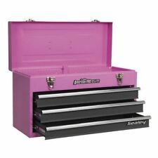 Sealey AP9243BBP Pink Portable Tool Chest 3 Drawer Handle & Ball Bearing Runners