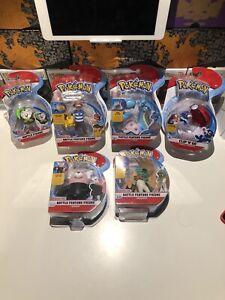 Pokemon Figure Lot Battle Feature Figure Wicked Cool Toys Ash,Pikachu,Lapras NEW
