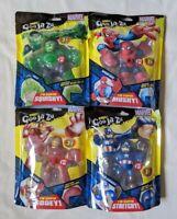 Marvel Heroes of Goo Jit Zu Entire Set Spiderman Hulk Iron Man Captain America