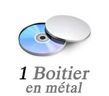 Boitier pour 1 CD/DVD en métal rond sans fenêtre