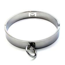 Bloccaggio in acciaio inox COLLARI slave con O-Ring, Sissy Maid, UK POST