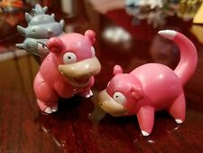100% Authentic Takara Tomy Pokemon Slowpoke & Slowbro PVC Figure Lot US Seller