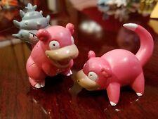 100% Authentic Takara Tomy Pokemon Slowpoke & Slowbro PVC Figure Lot US Seller