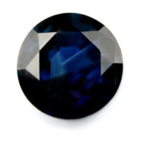 Certified Natural 8.2mm Royal Blue Sapphire 2.77ct Round SI Clarity Madagascar