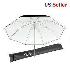 "Studio Reflective Umbrella 34"" Black solid White fabric Stainless steel frame"