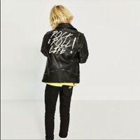 ZARA Boys Rock & Roll Life black leather jacket 13/14