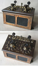 ANTIQUE TECHNICAL INSTRUMENT DEVICE DECADE RESISTANCE BOX G.P.O. / 1900s