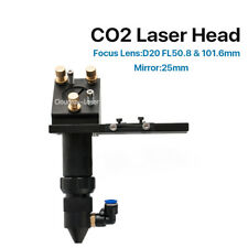 CO2 Laser Head for Focus Lens Dia.20mm FL.50.8/101.6mm Mirror Mount 25mm