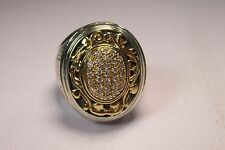 Konstantino 1/2 ct Pave Diamond Ornate Ladies Ring 18K Gold Sterling Silver