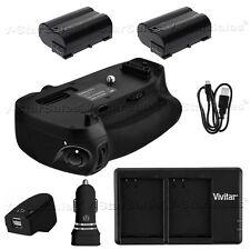 Battery Grip for Nikon D750 +2x EN-EL15 Replacement Battery+ AC/DC Dual Charger