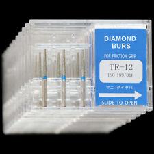 10 Boxes TR-12 MANI DIA-BURS CE For Dental High Speed Handpiece Diamond Burs
