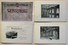 Orig. Prospekt Kuranstalt und Bad Weissenburg um 1900 Simmental Berner Oberland