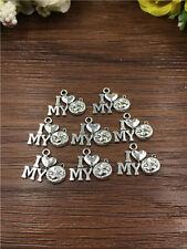8 pcs  I love my cat Tibetan Silver pendants17*13mm DIY Jewelry
