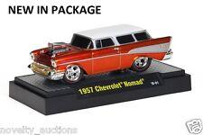 K37  81161 02 M2 MACHINE GROUND POUNDERS 1957 CHEVROLET NOMAD CHEVY ORANGE  1:64
