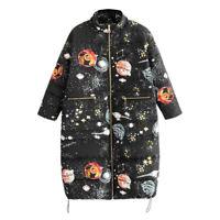 Womens Winter Warm Thicken Duck Down Coat Zipper Jacket Slim Long Parka Outwear