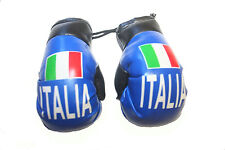 ITALIA ITALY BLUE With Country FLAG Mini BOXING GLOVES .. NEW