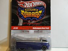 Hot Wheels Phil's Garage Purple VW Drag Truck in Protecto Signed on Card by Phil