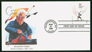Mayfairstamps US FDC 1998 Alexander Calder and Sculpture First Day Cover wwp_526