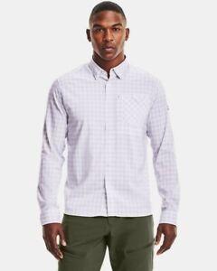 *NWT* UNDER ARMOUR Men's UA Tide UPF 30 Plaid Long Sleeve Shirt XXL