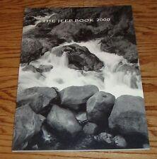 Original 2000 Jeep Full Line Deluxe Sales Brochure 00 Wrangler Cherokee