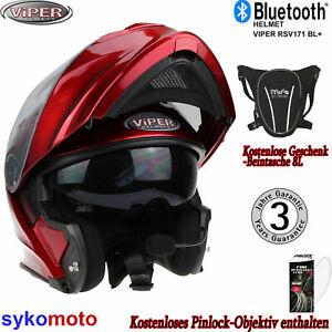 Bluetooth Klapphelm Viper Rsv171 Motorrad Helm Touren Mitternatch Mit Pinlock