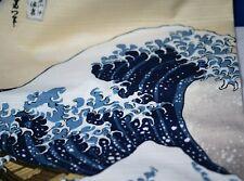 FUROSHIKI Japanese Wrap Cloth UKIYOE Great Wave of Kanagawa By HOKUSAI New 50cm