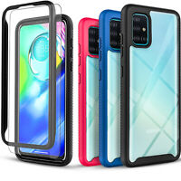 For Samsung Galaxy A51 A71 5G Case, Dual Layers Cover + Tempered Glass Protector