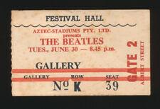 Beatles ULTRA RARE FESTIVAL HALL CONCERT TIDKET STUB! BRISBANE AUSTRALIA 1964!