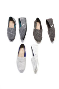 TOMS Womens Slide On Shoes Gray Brown Size 5.5 Lot 3