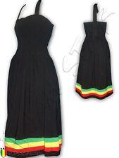 Rasta Dress Jamaica Green Yellow Stripes size S/M  Stretch Material