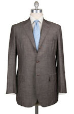 New $6600 Kiton Brown Wool Blend Solid Suit - 40/50 - (UA896D175R7)