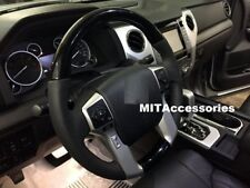 TOYOTA SEQUOIA TRD SPORT 2017-2018 BLACK PIANO wood leather steering wheel