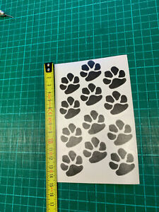 1 sheet of paws m selfadhesive  stickers - you choose the colour a6size free P&P