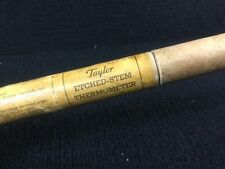 """New listing Vintage Taylor Etched-Stem Thermometer 16"""" Range +30° To 600° F W/Tube Dec.1948"""