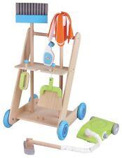 Lelin 11PC De Madera Carro De Limpieza De Juguete Carro finja el juego conjunto para niños