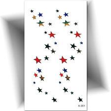 ►PETIT TATOUAGE TEMPORAIRE ÉTOILE MULTICOLORE (Petit tattoo éphémère)◄