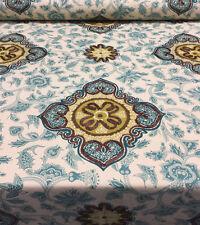 30 Yard Roll Waverly Medina Jasper Green Brown Embroidered Fabric Wholesale