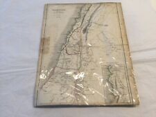 Antique 1940 New Testament map of Palestine