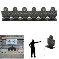 6pcs Metal Airsoft Chasse Tir Cible Tir à l'Arc Pratique Cible pour BB Pellet