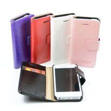 Fundas y carcasas liso de color principal rojo de piel sintética para teléfonos móviles y PDAs