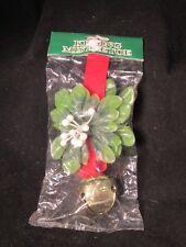 Vintage Plastic Kissing Mistletoe W Bell Hanging Christmas Decoration Commodore
