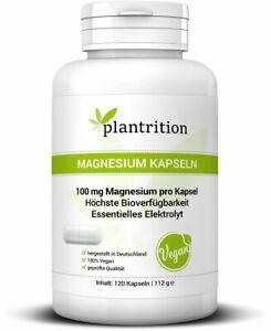 plantrition Magnesium Bisglycinat - 120 Kapseln