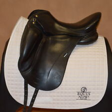 Used Dk Freedom Monoflap Dressage Saddle - Sz 17.5 - X-Wide Tree - # 5001564
